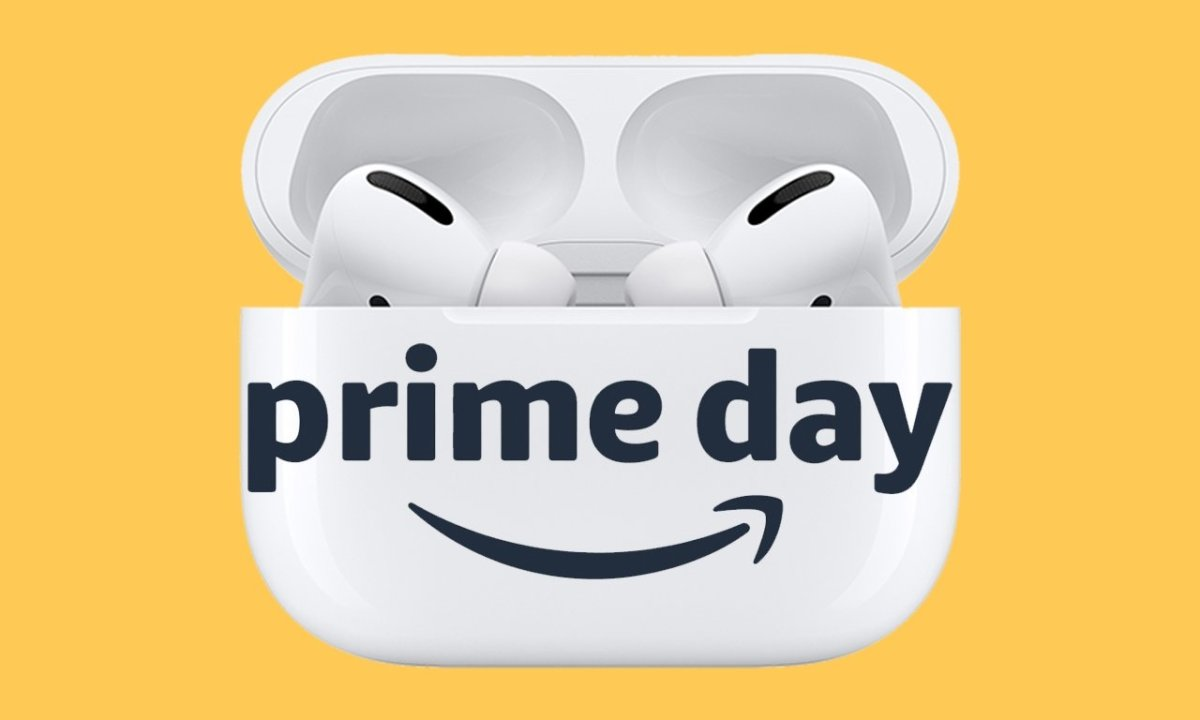 AirPods Pro with Prime Day logo