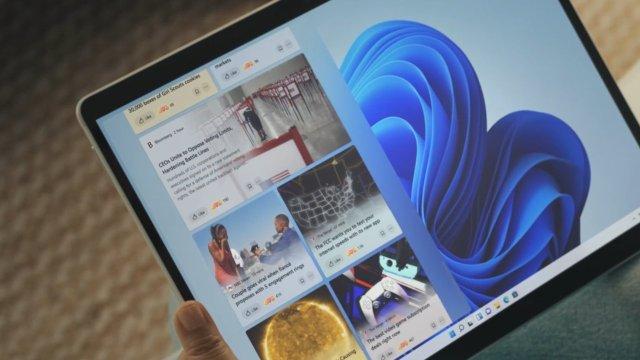 La vista del widget actúa como una fuente de noticias para actualizaciones actualizadas al minuto