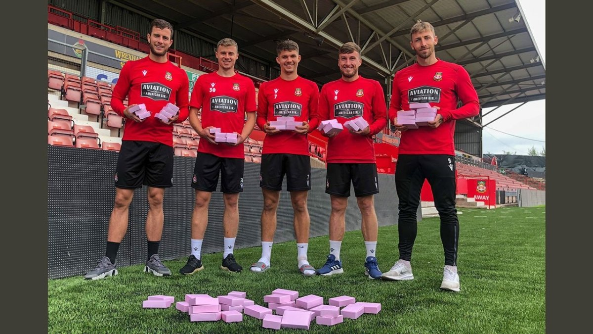 Wrexham AFC with Biscuits