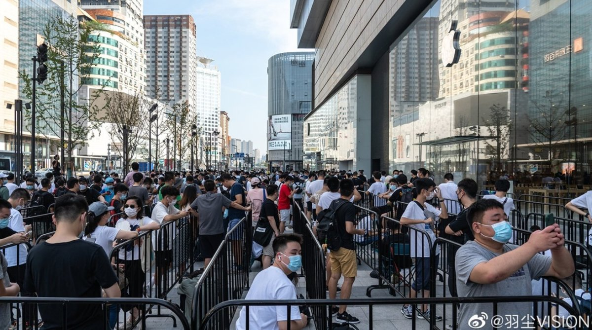 Changsha Apple Store opening brought in large queues [via Dust Vision/Weibo]