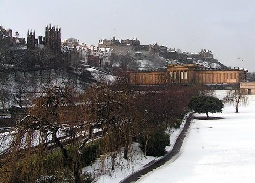 Snow Dusted Edinburgh