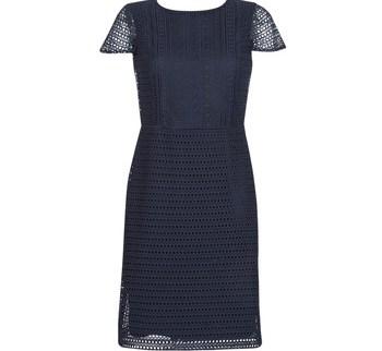 Κοντά Φορέματα Lauren Ralph Lauren NAVY SHORT SLEEVE DAY DRESS Σύνθεση: Πολυεστέρας & Σύνθεση επένδυσης: Πολυεστέρας