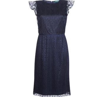 Κοντά Φορέματα Lauren Ralph Lauren LACE CAP SLEEVE DRESS Σύνθεση: Πολυεστέρας & Σύνθεση επένδυσης: Πολυεστέρας