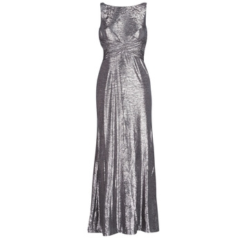Μακριά Φορέματα Lauren Ralph Lauren SLEEVELESS EVENING DRESS GUNMETAL Σύνθεση: Πολυεστέρας & Σύνθεση επένδυσης: Πολυεστέρας