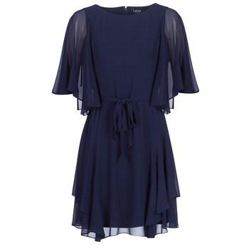 Κοντά Φορέματα Lauren Ralph Lauren NAVY-3/4 SLEEVE-DAY DRESS Σύνθεση: Πολυεστέρας & Σύνθεση επένδυσης: Spandex,Πολυεστέρας
