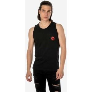 Αμάνικα/T-shirts χωρίς μανίκια Brokers ΑΝΔΡΙΚΟ ΑΜΑΝΙΚΟ T-SHIRT ΜΑΥΡΟ