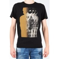 T-shirt με κοντά μανίκια Lee Photo Tee Black L60BAI01