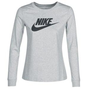 Μπλουζάκια με μακριά μανίκια Nike W NSW TEE ESSNTL LS ICON FTR Σύνθεση: Βαμβάκι