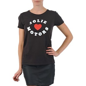 T-shirt με κοντά μανίκια Kulte LOUISA JOLIEMOTOR 101954 NOIR Σύνθεση: Βαμβάκι
