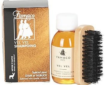Φροντίδα Famaco Flacon shampoing Vel Vel 100 ml + brosse