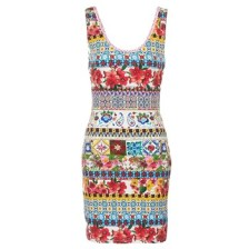 Κοντά Φορέματα Desigual OCONDE Σύνθεση: Spandex,Βισκόζη