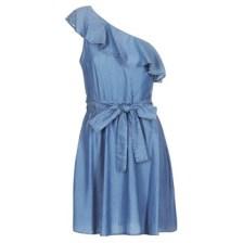 Κοντά Φορέματα MICHAEL Michael Kors ONE SHLDR RUFFLE DRS Σύνθεση: Lyocell