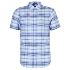 Πουκάμισο με κοντά μανίκια Gant BLUE PACK MADRAS REG Σύνθεση: Βαμβάκι