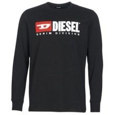Μπλουζάκια με μακριά μανίκια Diesel T JUST LS DIVISION Σύνθεση: Βαμβάκι
