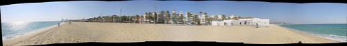 Panoràmica de la platja de Badalona