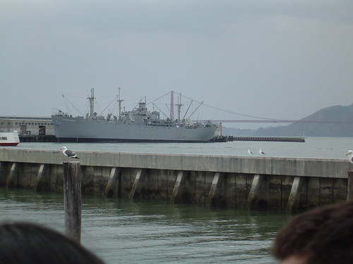 Battleship at Port