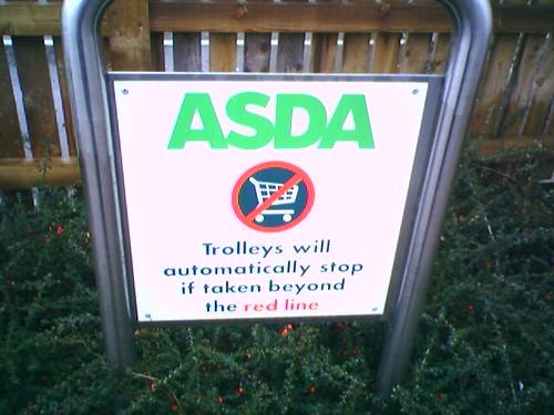 Automatic locking trolleys