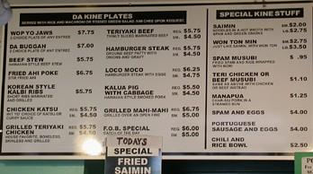 DaKine's menu