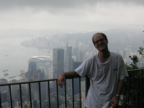 Paul with the Hong Kong Harbor
