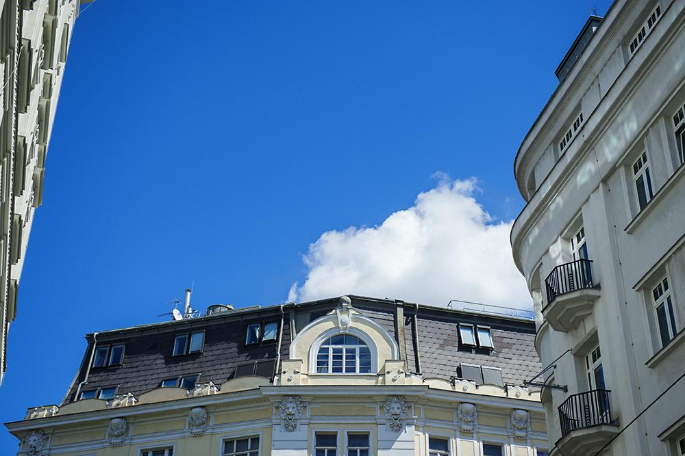 vienna, 1060, mariahilf, blue sky, summer