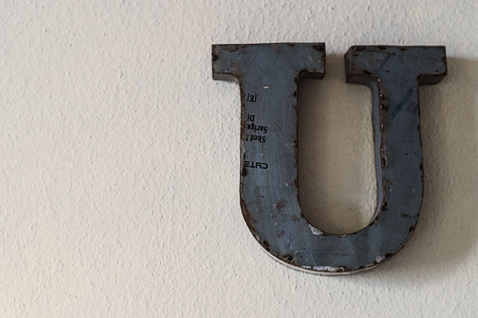 letter, typography, vintage, distressed
