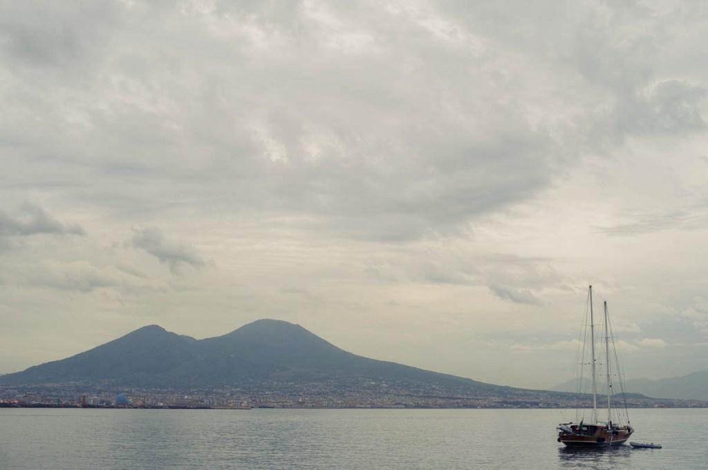 lungomare, napoli, italy, sea, ocean, boats, blue, sky, calm, peace