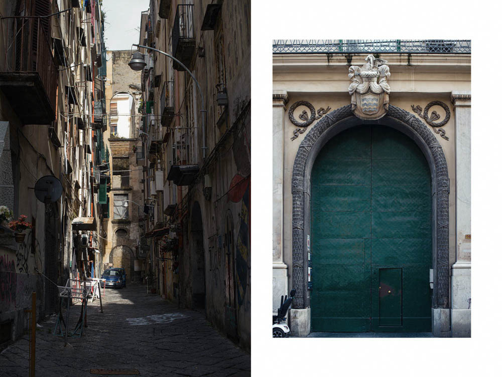 napoli, old town, italy, murals, narrow alleys