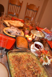 Our Thanksgiving feast with our Virginia family!