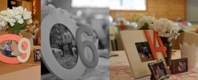 Wedding Photo Table Numbers