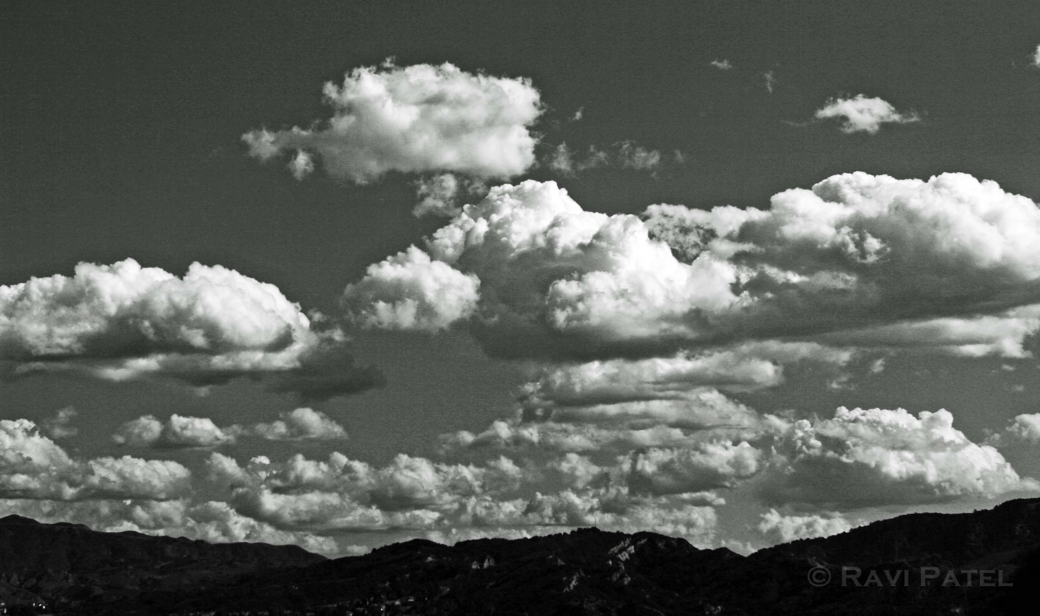 clouds in black and