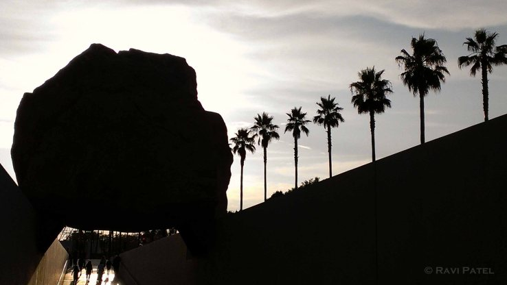 Levitated Mass Silhouette