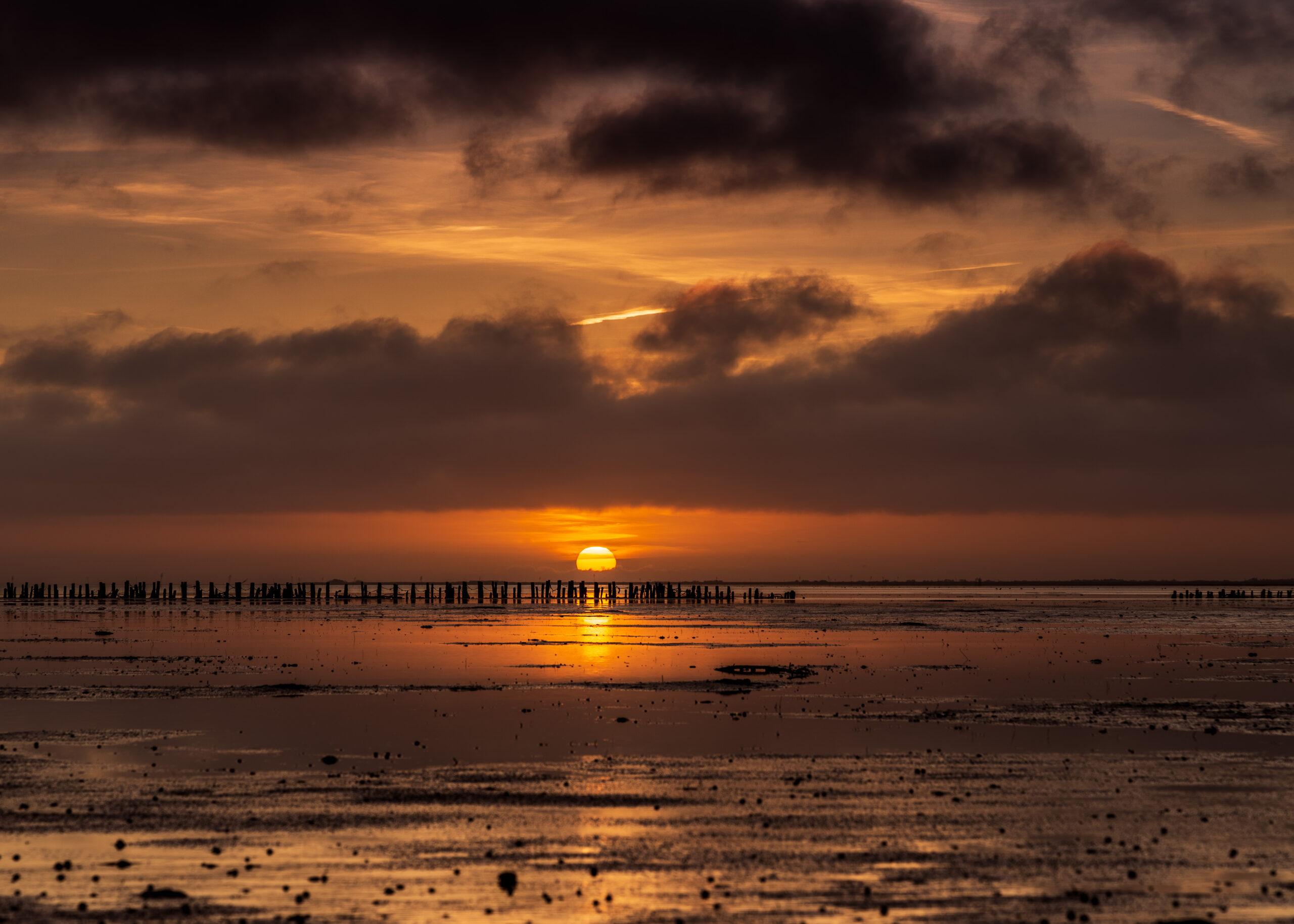 Solnedgang ved Låningsvejen