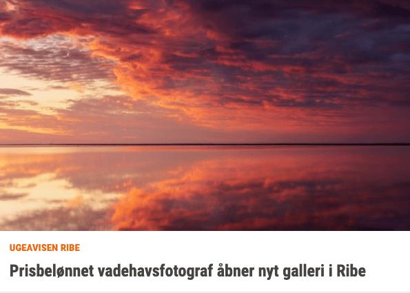 Ribe Ugeavisen skriver om Galleri Vadehavet