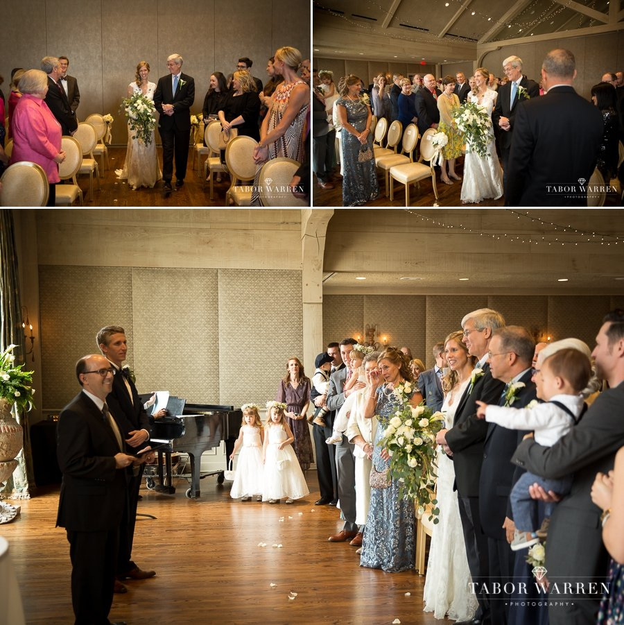 Southern Hills Country Club wedding ceremony photos