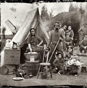 Campement pendant la Guerre de Sécession en 1861