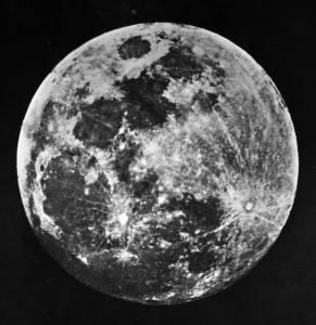 Ancienne photo de la lune 1841