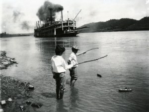 Bord d'une rivière dans l'Indiana en 1919