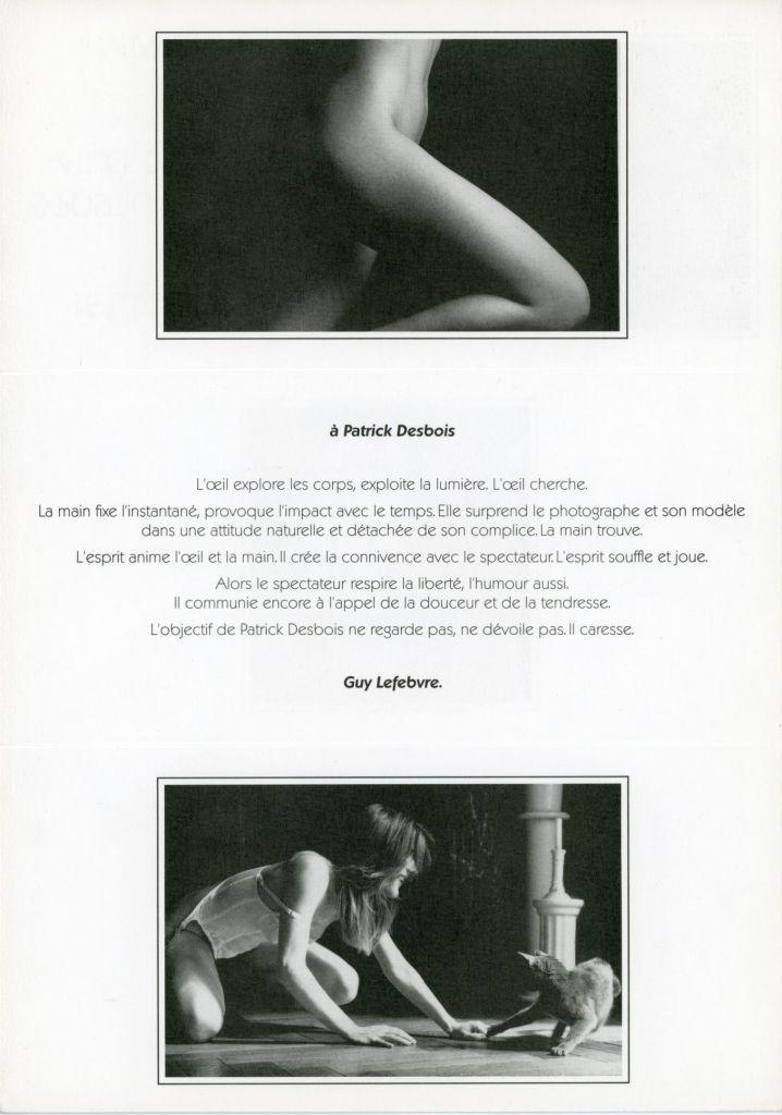 Photo sensuelle Desbois presse