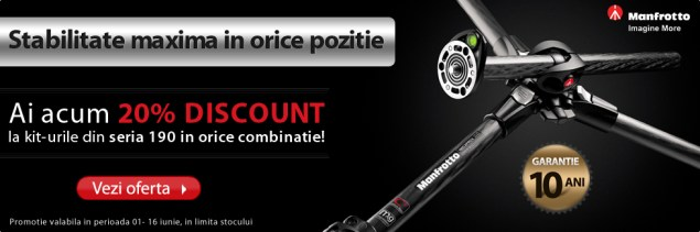 Promotia Manfrotto 190