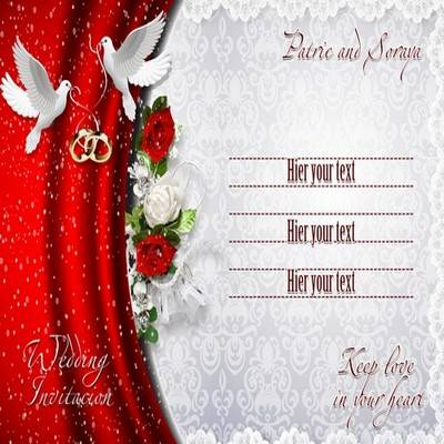 Double Sided Multi Layered Psd Source Wedding Invitation