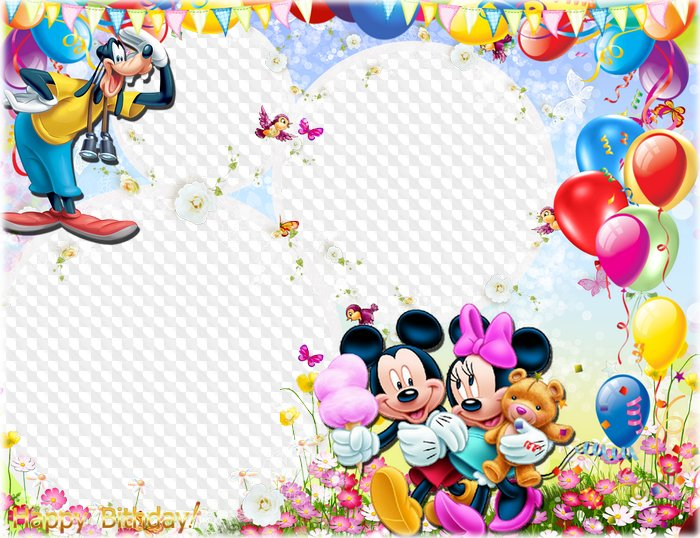 Disney Characters Happy Birthday Frames – HD Wallpapers