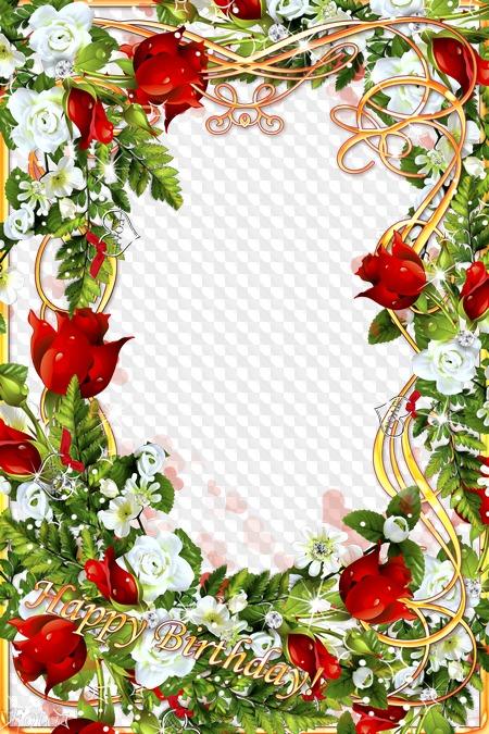 greeting frame happy birthday