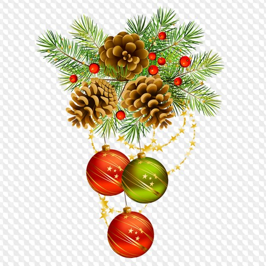 15 Png Christmas Decorations Png Garlands Balls Gifts Png Graphics On A Transparent Background