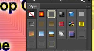 Simpan layer style untuk mempercepat kinerka kita