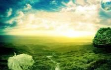 Create a beautiful fantasy scenery using photoshop