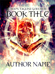 skull black magic book cover design author writer