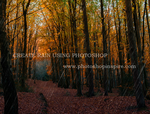 create rain using photoshop
