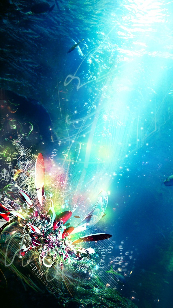 Wallpaper Falling Skies Create An Abstract Underwater Scene In Photoshop