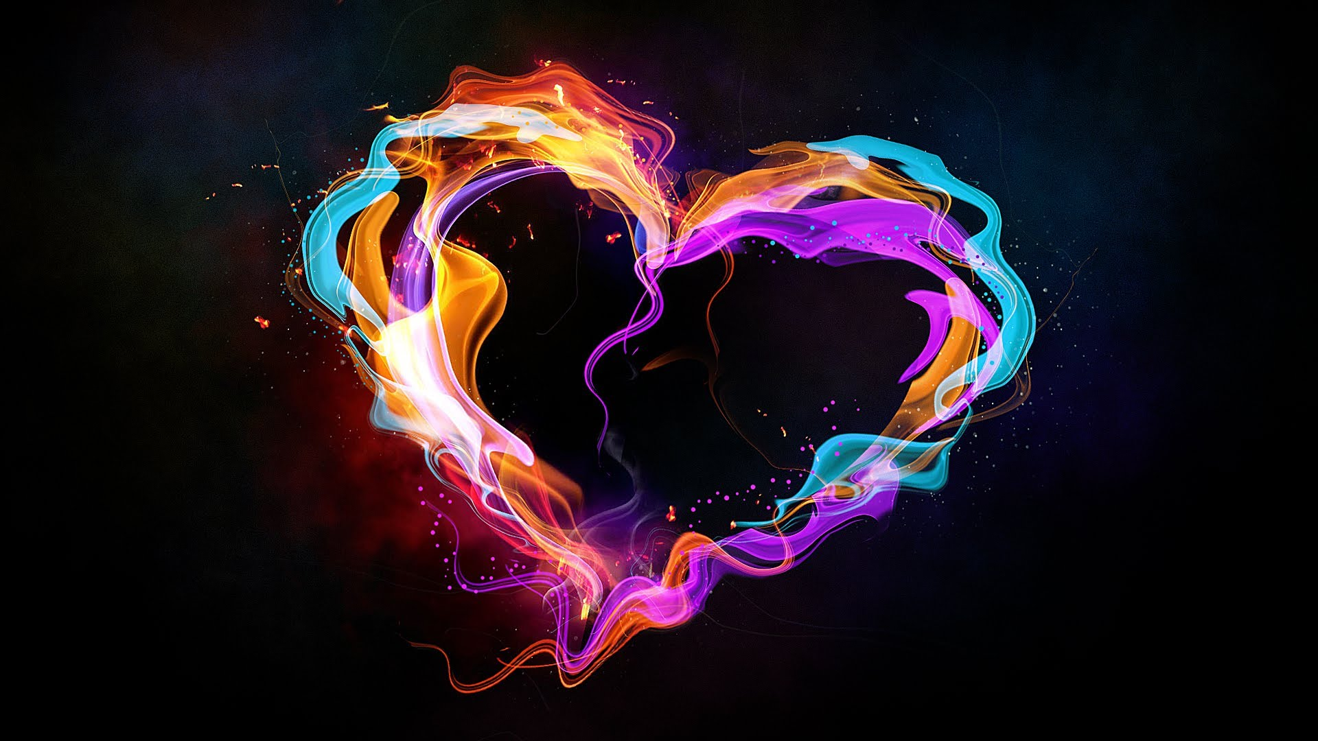 Broken Heart Hd Wallpaper Free Download Create An Abstract Style Colorful Heart In Photoshop
