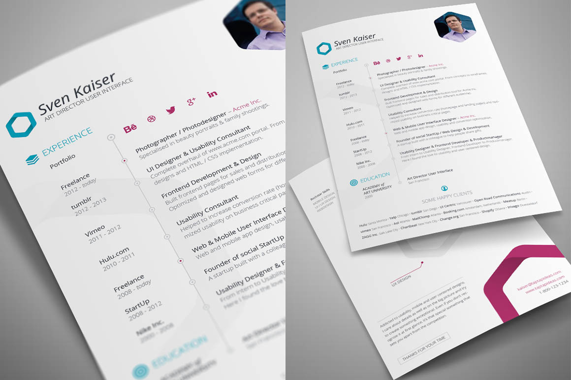 Indesign Resume Tutorial Free Indesign Resume Template